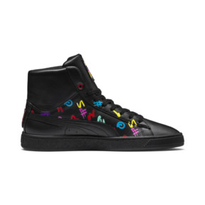 Thumbnail 7 of PUMA x BRADLEY THEODORE Basket Mid Trainers, Puma Black, medium