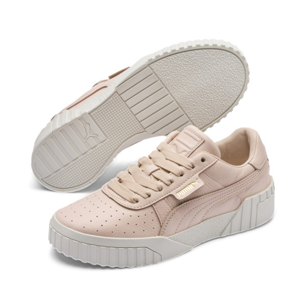 Cali Emboss Women's Sneakers, Cream Tan-Cream Tan, large