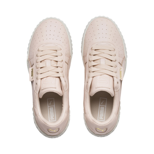Cali Emboss Women's Trainers, Cream Tan-Cream Tan, large