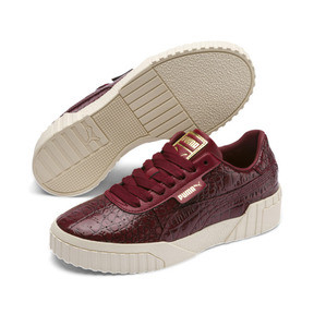 Thumbnail 3 of Cali Croc Women's Trainers, Pomegranate-Pomegranate, medium