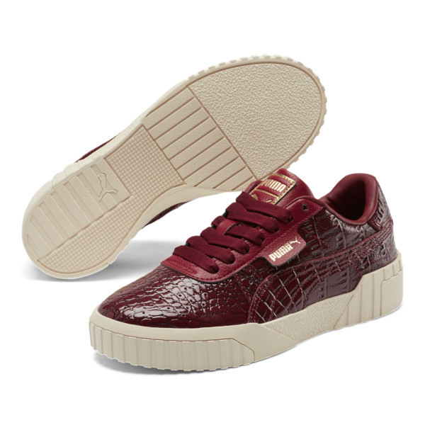 Cali Croc Women's Sneakers, Pomegranate-Pomegranate, large