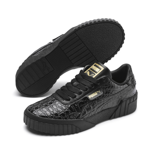 Damskie tenisówki Cali Croc, Puma Black-Puma Black, obszerny