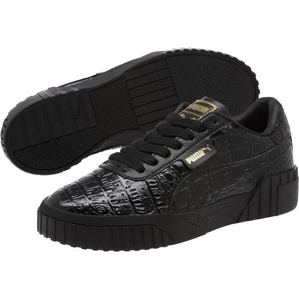 Cali Croc Women's Sneakers, Puma Black-Puma Black, large