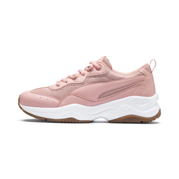 Cilia Women's Sneakers, Peach Bud-White-Silver-Gum, large