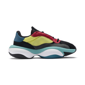 Thumbnail 5 of Alteration Kurve Trainers, Puma Black-Limelight, medium