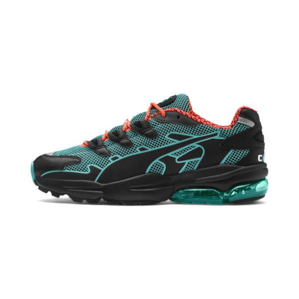 CELL Alien Kotto Trainers, Puma Black-Blue Turquoise, large