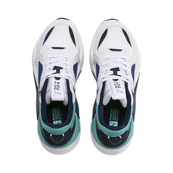 RS-X Hard Drive Sneakers, Puma White-Galaxy Blue, large