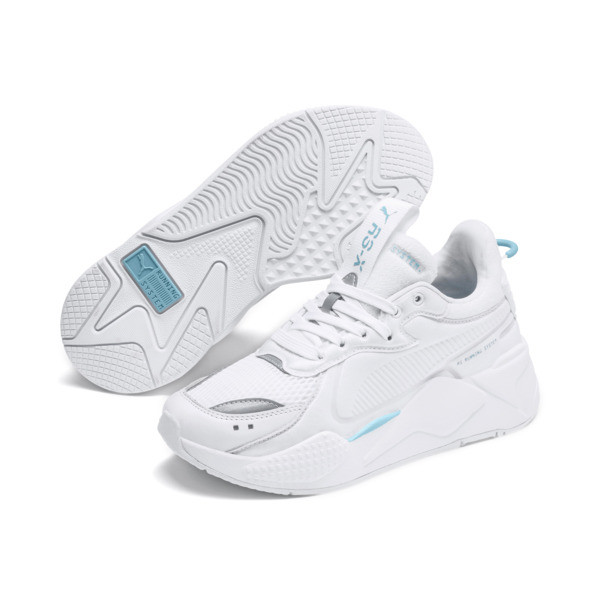 RS-X Softcase Trainers, Puma White-Milky Blue, large