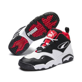 Thumbnail 2 of Source Mid Sneakers, Black- White-High Risk Red, medium