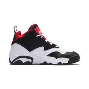 Thumbnail 5 of Source Mid Sneakers, Black- White-High Risk Red, medium