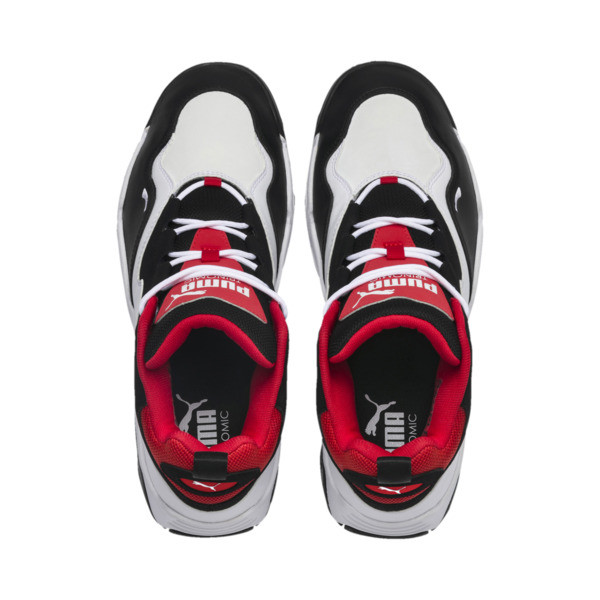 Source Mid Sneakers, Black- White-High Risk Red, large