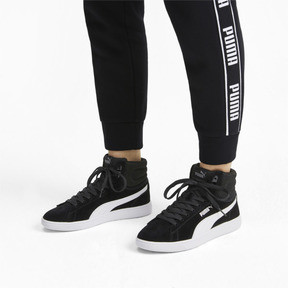 Thumbnail 3 of PUMA Vikky v2 Mid Women's Sneakers, Puma Black-White-Silver-Pink, medium