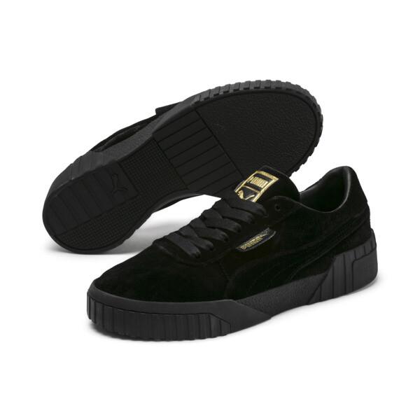 Cali Velvet Women's Sneakers, Puma Black-Puma Black, large