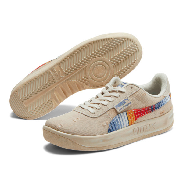 California Vintage Sneakers, Birch-Blue Indigo, large