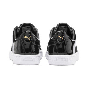 Thumbnail 4 of Basket Remix Women's Sneakers, Puma Black-Puma Team Gold, medium