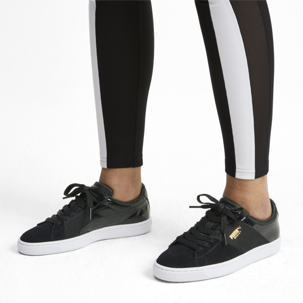 Chaussure Basket Remix pour femme, Puma Black-Puma Team Gold, large
