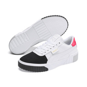 Thumbnail 3 of Basket Cali Remix pour femme, Puma White-Puma Black, medium