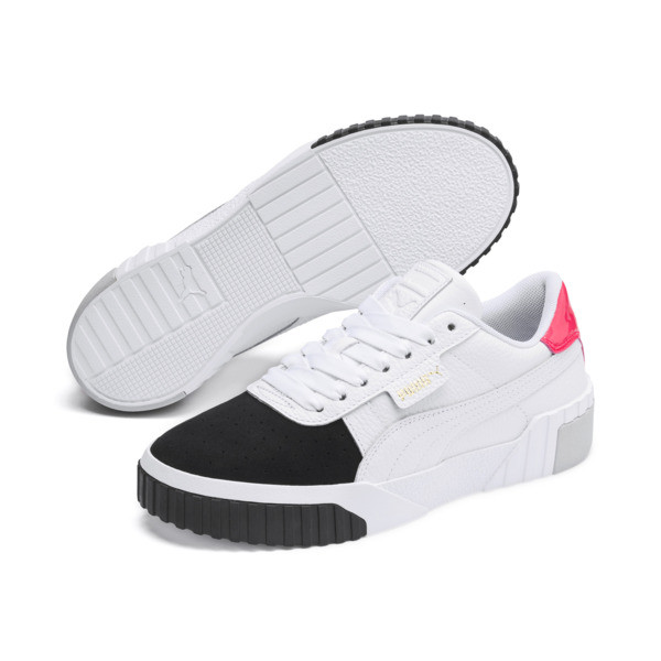 Cali Remix Women's Trainers, Puma White-Puma Black, large