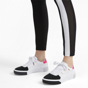 Thumbnail 2 of Basket Cali Remix pour femme, Puma White-Puma Black, medium