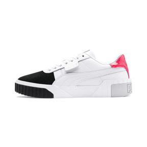 Thumbnail 1 of Cali Remix Women's Trainers, Puma White-Puma Black, medium