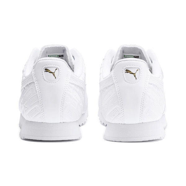 Roma Reinvent Women's Trainers, Puma White-Puma Team Gold, large
