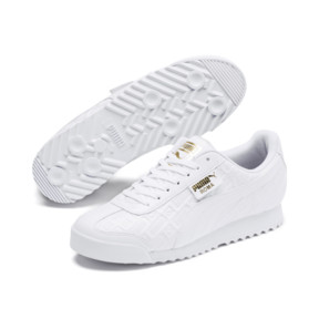 Thumbnail 3 of Roma Reinvent Women's Sneakers, Puma White-Puma Team Gold, medium