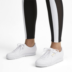 Thumbnail 2 of Roma Reinvent Women's Trainers, Puma White-Puma Team Gold, medium