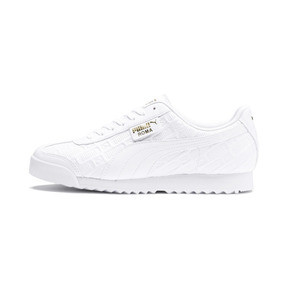 Thumbnail 1 of Roma Reinvent Women's Sneakers, Puma White-Puma Team Gold, medium
