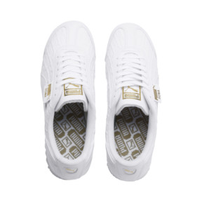 Thumbnail 7 of Roma Reinvent Women's Trainers, Puma White-Puma Team Gold, medium