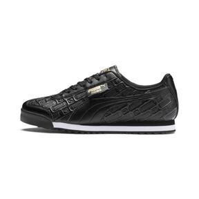 Thumbnail 1 of Roma Reinvent Women's Sneakers, Puma Black-Puma Team Gold, medium