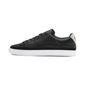 Thumbnail 1 of Basket Trim Block Sneakers, P Blk-Puma Team Gold-P Wht, medium
