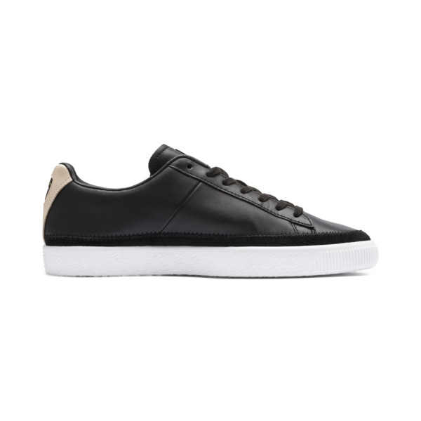 Basket Trim Block Sneakers, P Blk-Puma Team Gold-P Wht, large