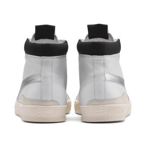 Thumbnail 3 of PUMA x RHUDE Basket '68 OG Mid Sneakers, Blanc de Blanc-Drizzle, medium