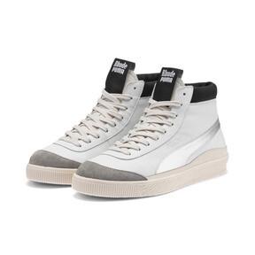 Thumbnail 2 of PUMA x RHUDE Basket '68 OG Mid Sneakers, Blanc de Blanc-Drizzle, medium