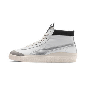Thumbnail 1 of PUMA x RHUDE Basket '68 OG Mid Sneakers, Blanc de Blanc-Drizzle, medium