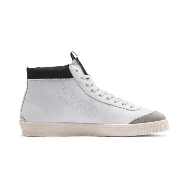 PUMA x RHUDE Basket '68 OG Mid Sneakers, Blanc de Blanc-Drizzle, large