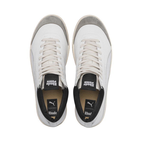 PUMA x RHUDE Basket '68 OG Basketball Shoes, Blanc de Blanc-Drizzle, large