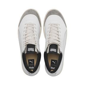 Thumbnail 6 of PUMA x RHUDE Basket '68 OG Mid Sneakers, Blanc de Blanc-Drizzle, medium
