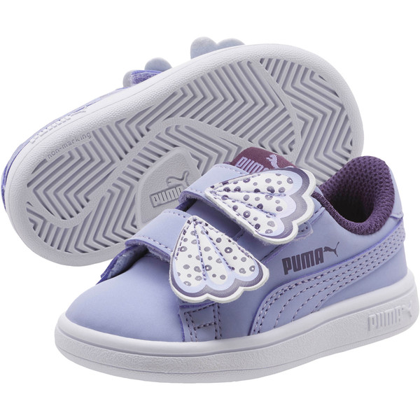 PUMA Smash v2 Butterfly AC Sneakers INF, Sweet Lavender-Indigo-White, large