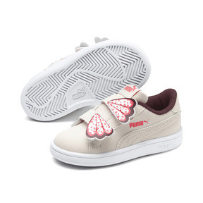 Thumbnail 2 of PUMA Smash v2 Butterfly AC Sneakers INF, Pastel Parchment-Vineyard, medium