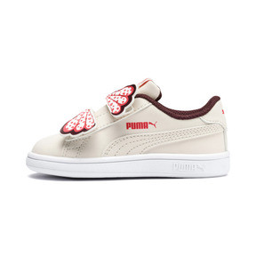Thumbnail 1 of PUMA Smash v2 Butterfly AC Sneakers INF, Pastel Parchment-Vineyard, medium