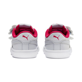Thumbnail 3 of PUMA Smash v2 Butterfly AC Toddler Shoes, Heather-Nrgy Rose-Puma White, medium