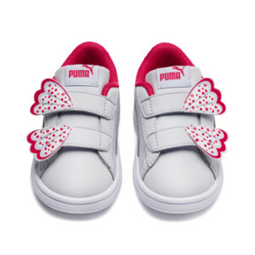 Thumbnail 7 of PUMA Smash v2 Butterfly AC Toddler Shoes, Heather-Nrgy Rose-Puma White, medium