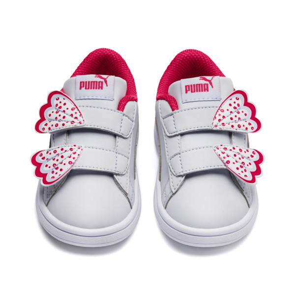 PUMA Smash v2 Butterfly AC Toddler Shoes, Heather-Nrgy Rose-Puma White, large