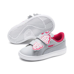 Thumbnail 2 of PUMA Smash v2 Butterfly AC Toddler Shoes, Heather-Nrgy Rose-Puma White, medium