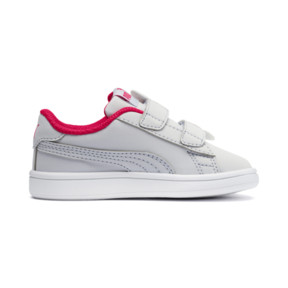 Thumbnail 5 of PUMA Smash v2 Butterfly AC Toddler Shoes, Heather-Nrgy Rose-Puma White, medium