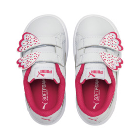 Thumbnail 6 of PUMA Smash v2 Butterfly AC Toddler Shoes, Heather-Nrgy Rose-Puma White, medium