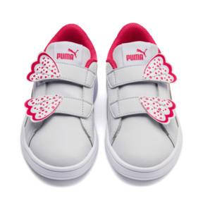 Thumbnail 5 of Puma Smash v2 Butterfly Little Kids' Shoes, Heather-Nrgy Rose-Puma White, medium