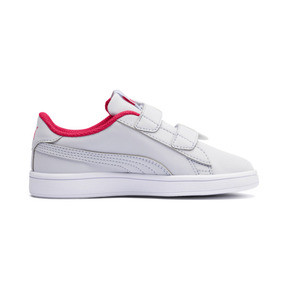 Thumbnail 4 of Puma Smash v2 Butterfly Little Kids' Shoes, Heather-Nrgy Rose-Puma White, medium
