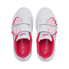 Thumbnail 7 of Puma Smash v2 Butterfly Little Kids' Shoes, Heather-Nrgy Rose-Puma White, medium